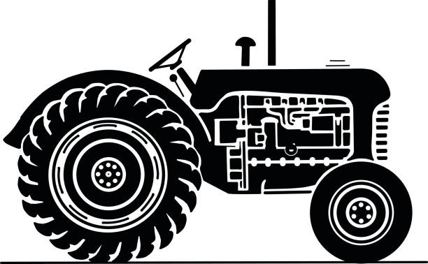 Best Antique Tractor Illustrations, Royalty.