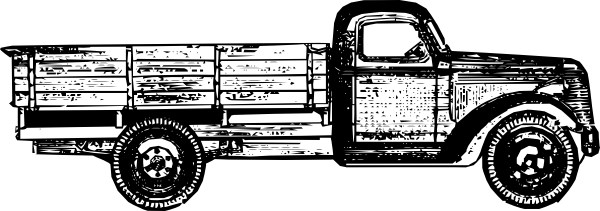 Antique truck clipart #5