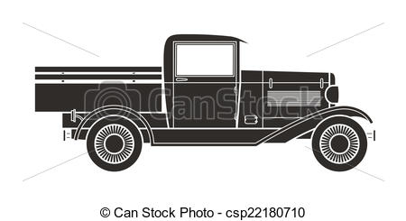 Antique truck clipart #17