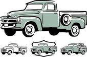 Old truck Clip Art Vector Graphics. 1,425 old truck EPS clipart.
