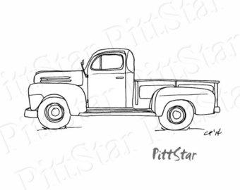 Antique truck clipart #18