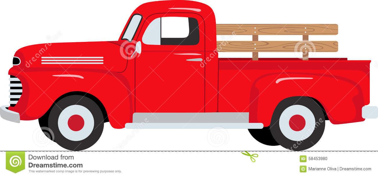 Old Farm Truck Clipart.