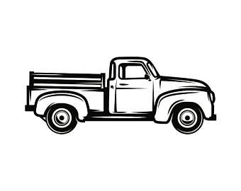 Antique Truck Clipart.