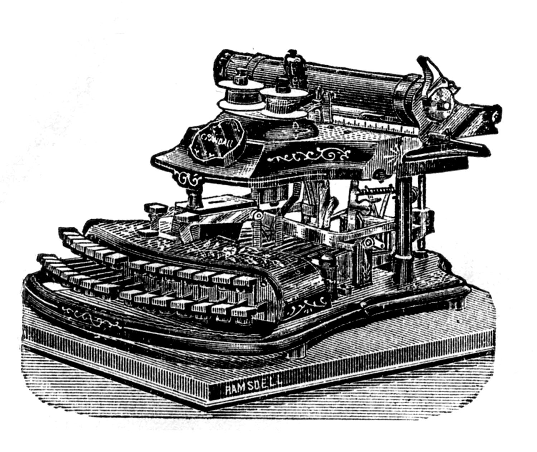 Antique typewriter clipart #2