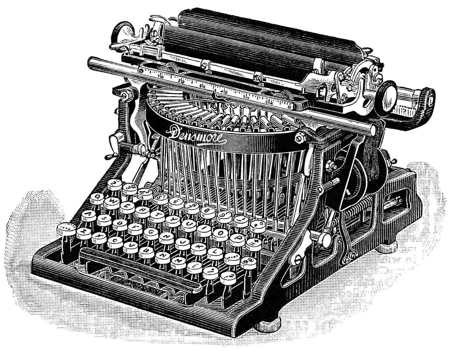 Antique typewriter clipart #3
