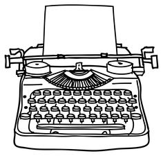 Antique typewriter clipart.