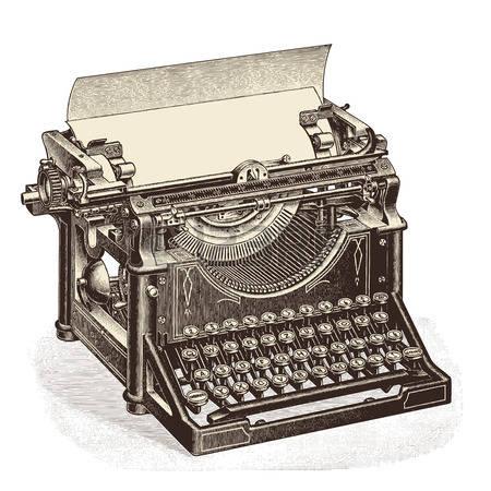 Antique typewriter clipart #8