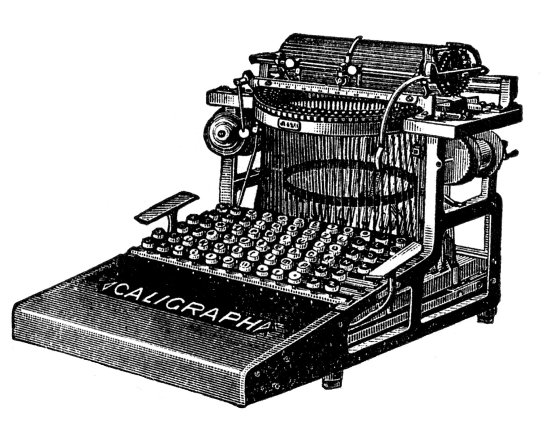 Antique typewriter clipart #4