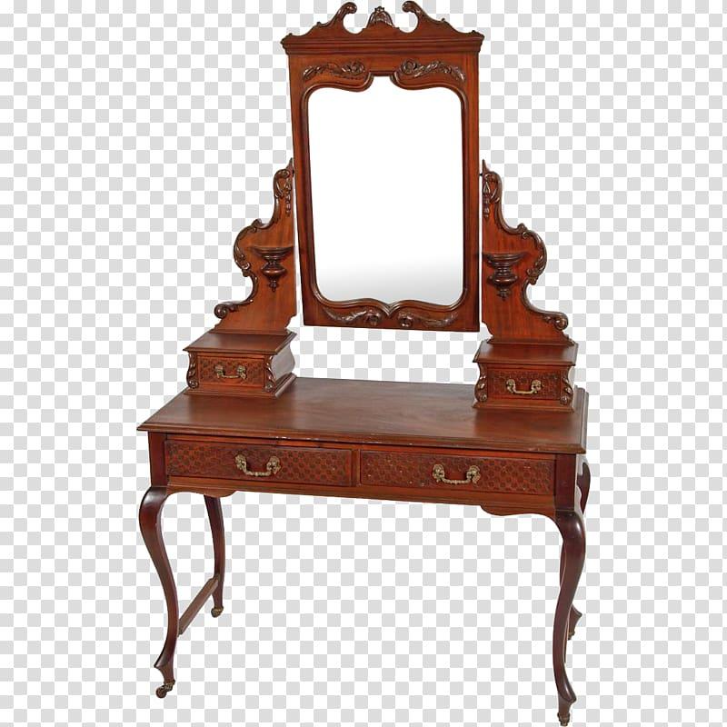 Table Antique Lowboy Vanity Furniture, vanity transparent.