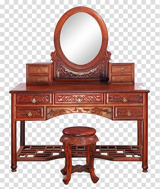 Furniture Antique Mirror Bedroom Achiote, Vintage wooden.