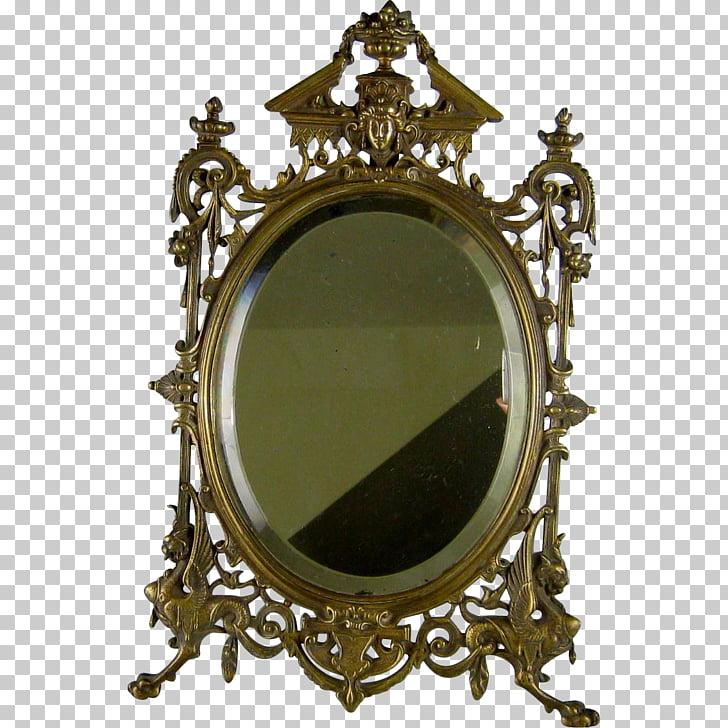 Table Mirror Renaissance Revival architecture Antique Vanity.