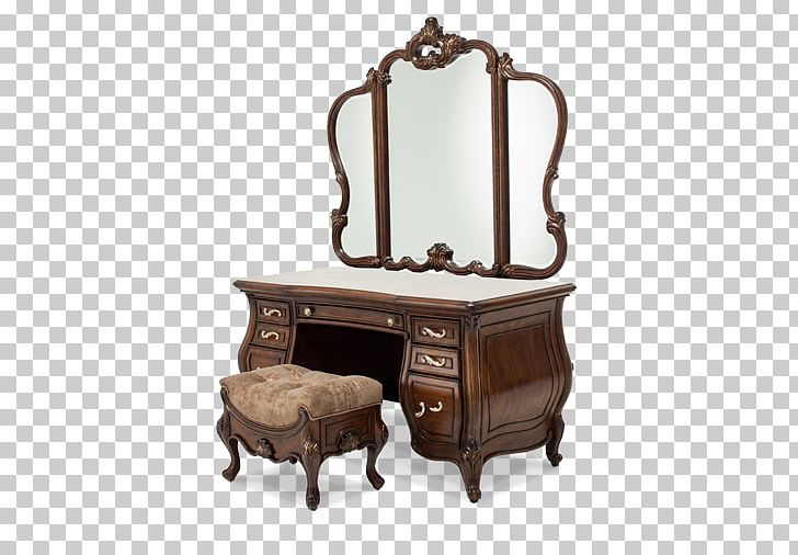 Table Vanity Desk Glass Mirror PNG, Clipart, Antique.