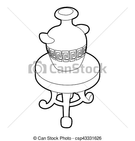 Antique vases clipart #12