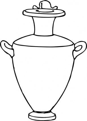 Antique vases clipart #6
