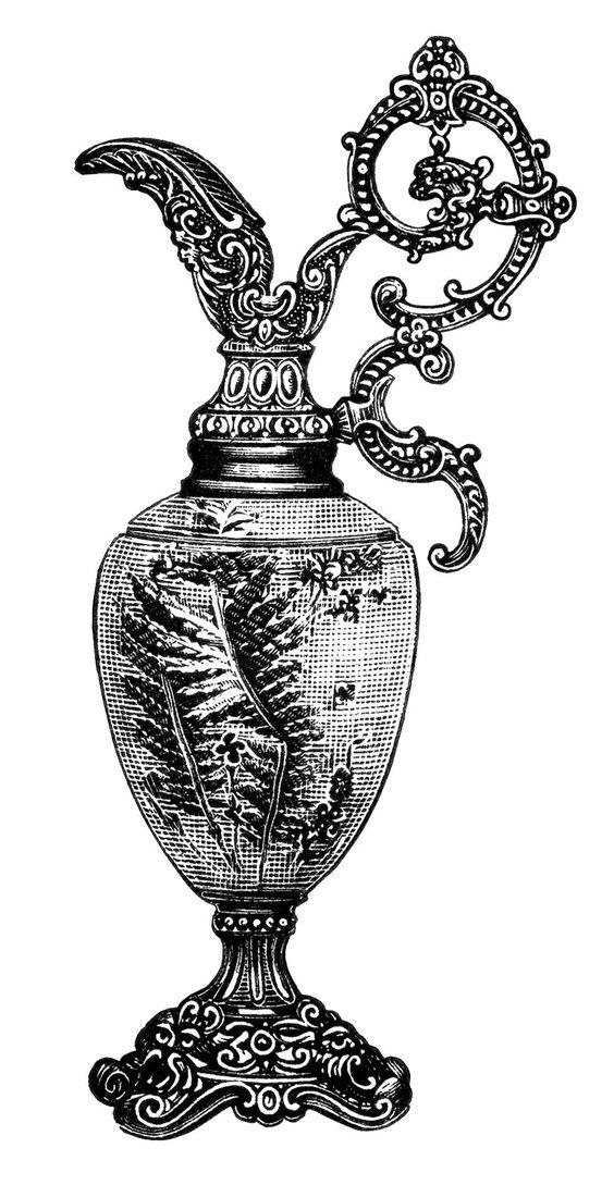 Antique vases clipart #10