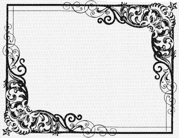Antique Frame Victorian Designs Vintage Clip Art.