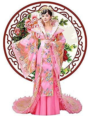 SAKLHFD Cosplay Costume Vintage Women Chinese Style Tang.