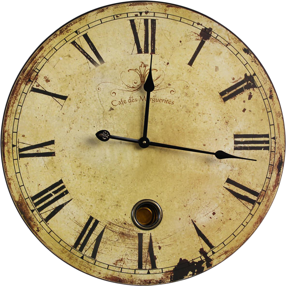 Vintage Wall Clock Png Clipart.