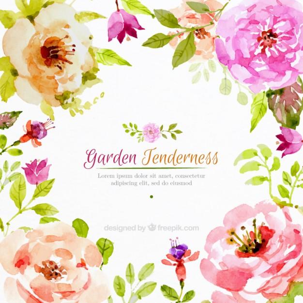 Free Ppt Backgrounds Desktop Wallpaper Flower Pink Lotus: Antique Water Coler Purple Flower Clipart