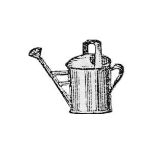 Free Antique Web Graphics Clipart: Vintage Garden Watering.
