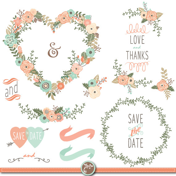 Vintage wedding clipart 7 » Clipart Station.