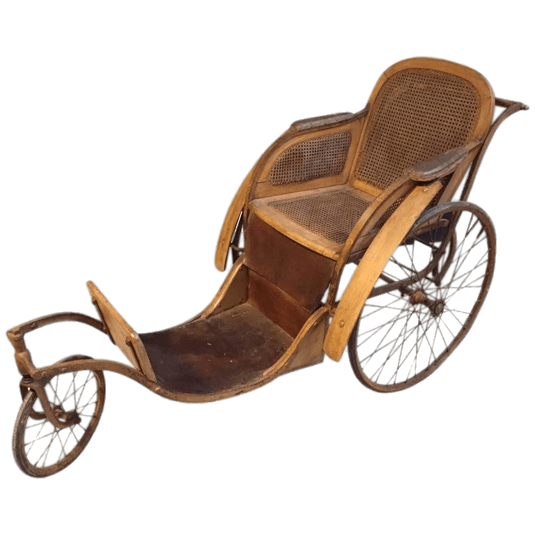 Vintage Wheelchair transparent PNG.