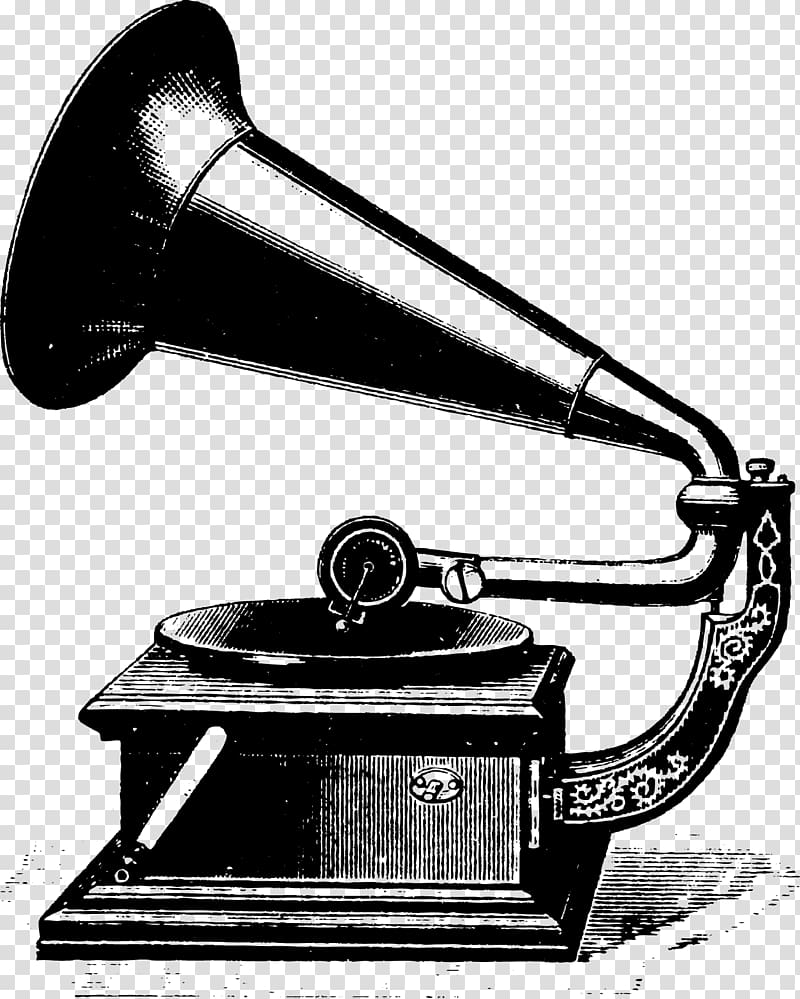 Phonograph record Antique , speaker transparent background PNG.