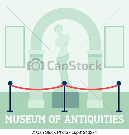 Vectors Illustration of Museum Of Antiquities Poster.