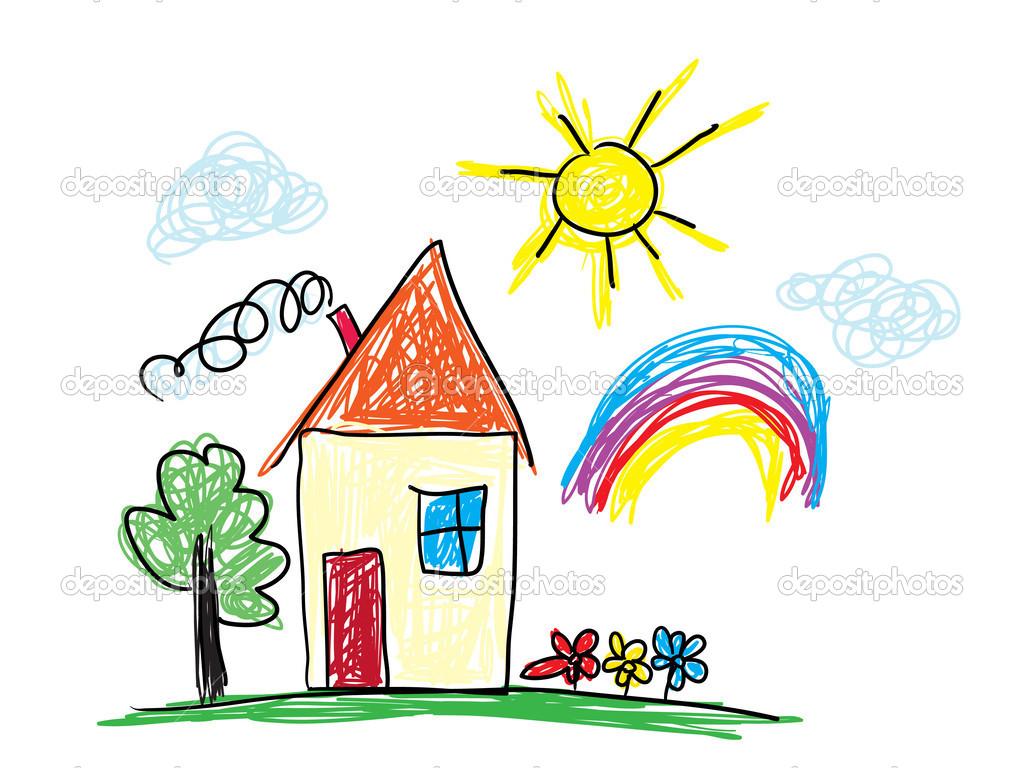 Childs drawing — Stock Vector © Antisana #42959215.