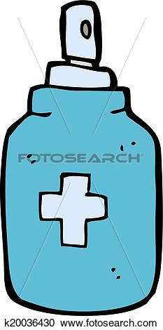 Clipart of cartoon antiseptic spray k20036430.