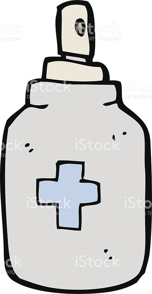 Cartoon Antiseptic Spray stock vector art 462910095.