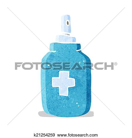 Clip Art of cartoon antiseptic spray k21254259.