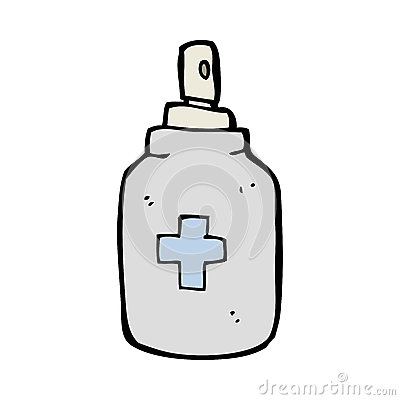 Cartoon Antiseptic Spray Stock Illustrations.