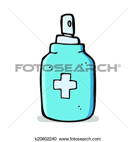 Clipart of cartoon antiseptic spray k20802240.
