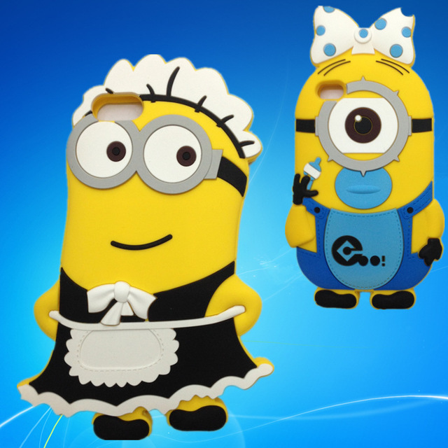 3D Babysitter Minions Cute Soft Anti shock Silicon Cover Cases.