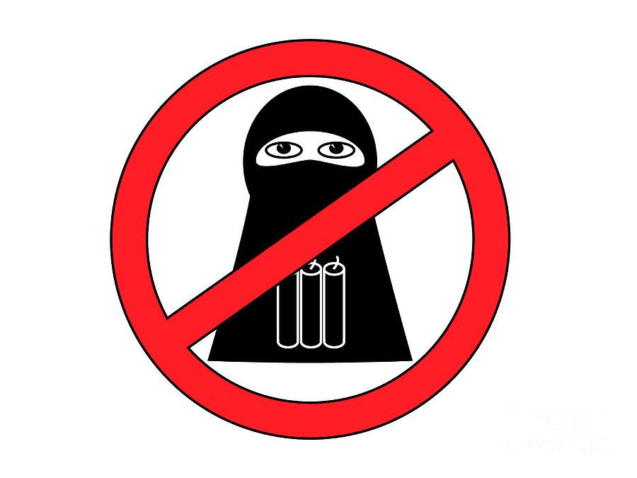 Jihadist Terrorism Clip Art.
