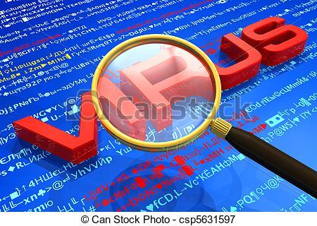 Stock Illustrations of Antivirus protection concept csp5631597.