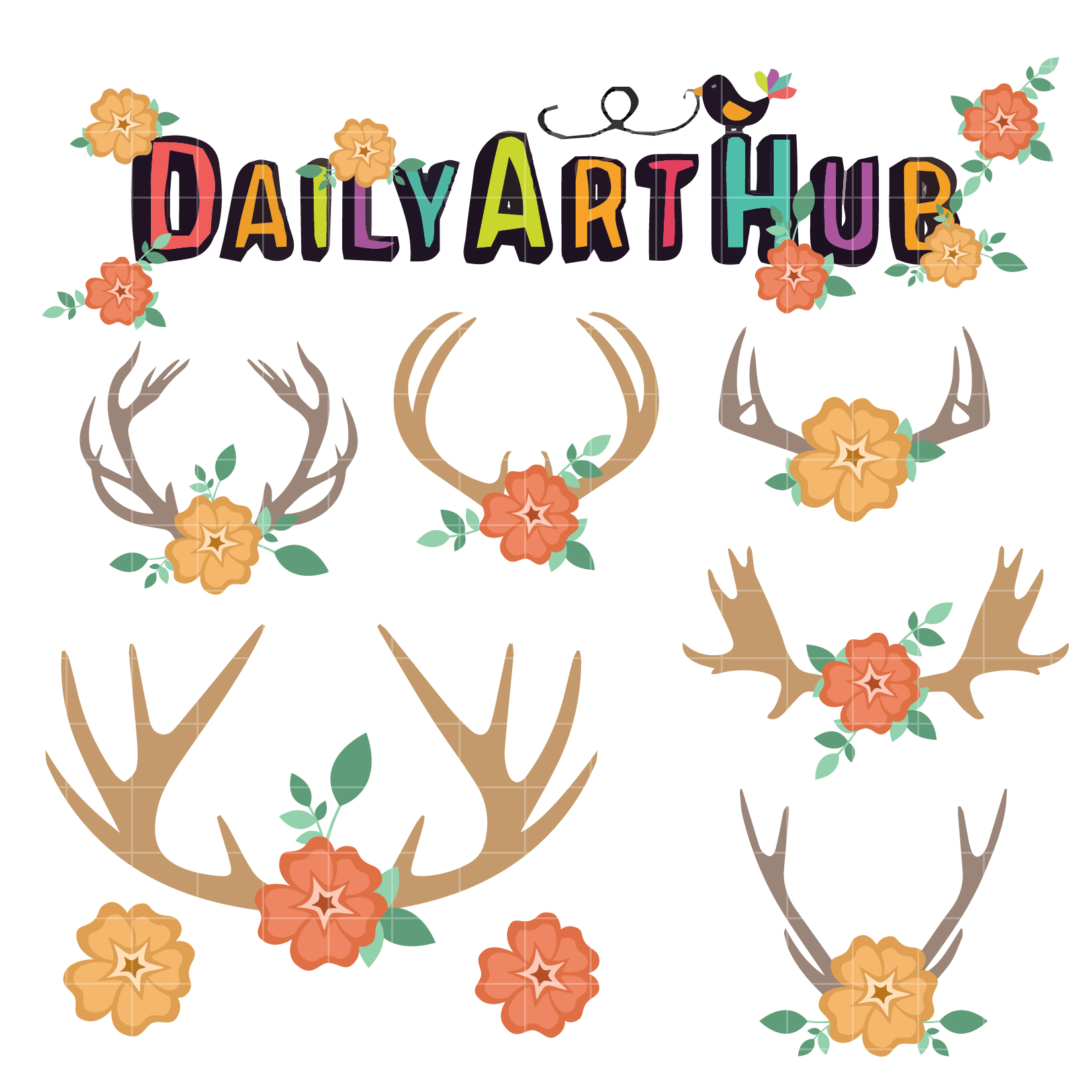 Free Flower Antler Cliparts, Download Free Clip Art, Free.