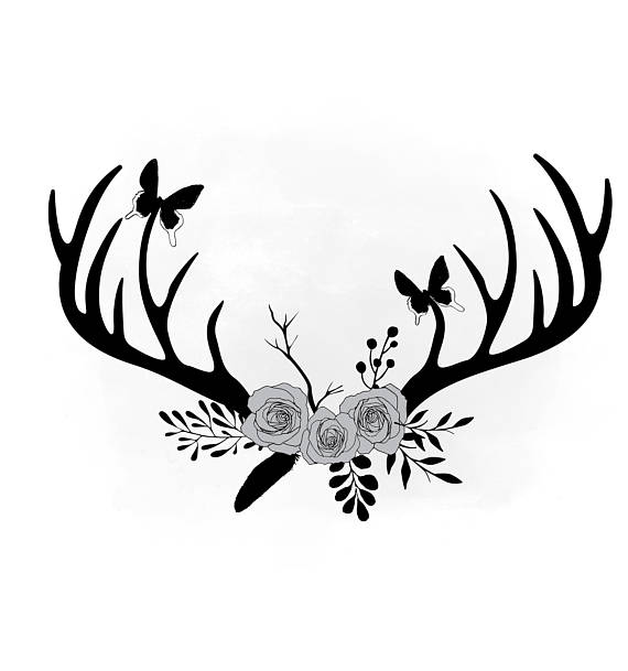 Antler clipart black and white 3 » Clipart Station.