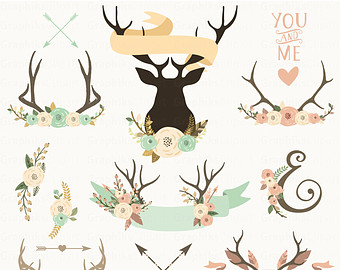 Antler carrier clipart #19