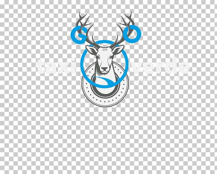 Deer Antler Logo Line Font, blue taxi PNG clipart.