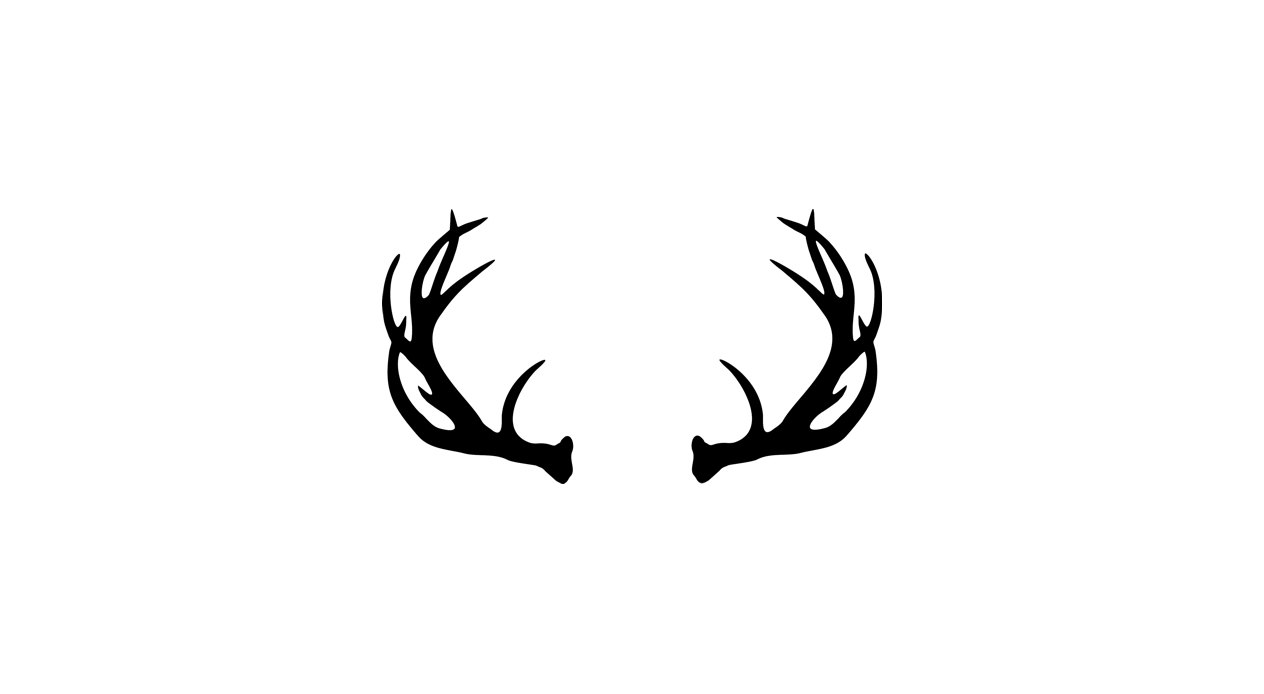 Deer Antlers Clipart Black And White.