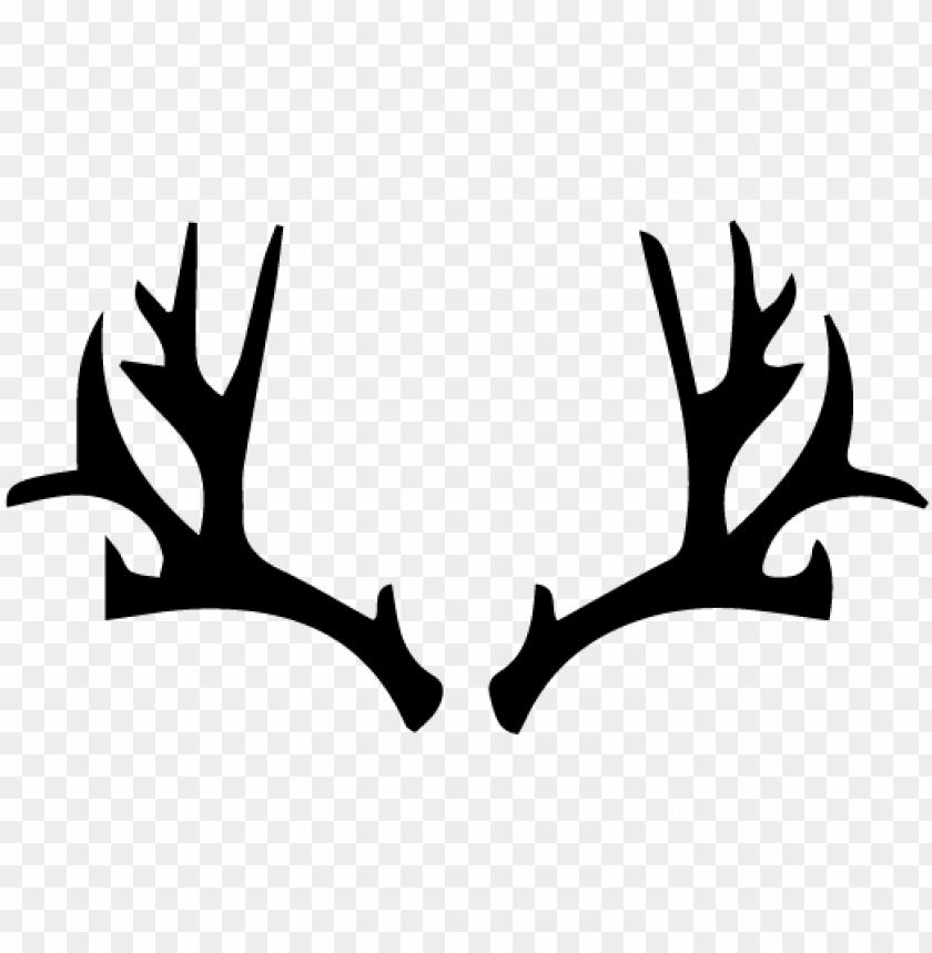 deer antlers clipart vector.