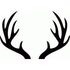Silhouette Of Deer Antlers.