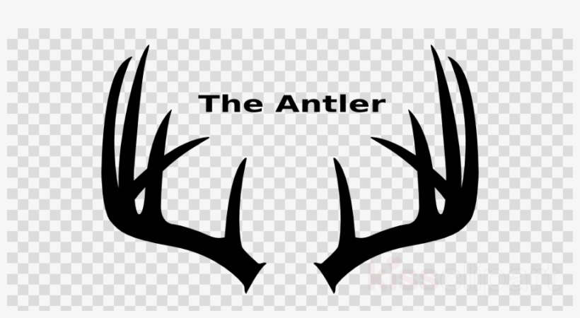 Antlers Silhouette Clipart White.