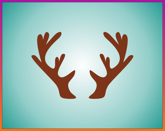 Reindeer Antlers svg Floral antler svg Deer horn svg Moose.