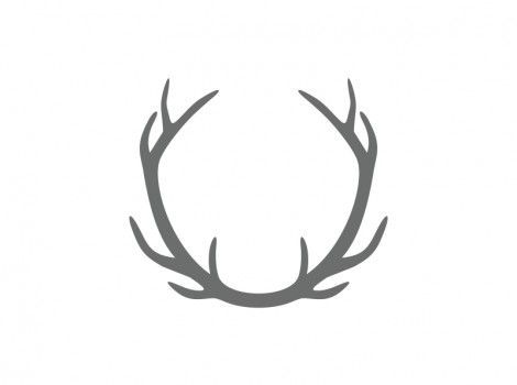 Connected Antler Craft Shape.