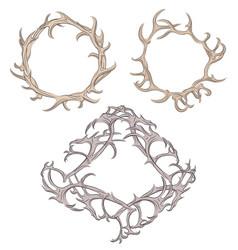 Antler Wreath Vector Images (98).