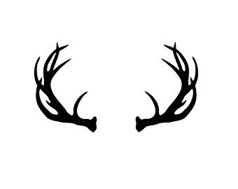 Antlered deer head clipart.
