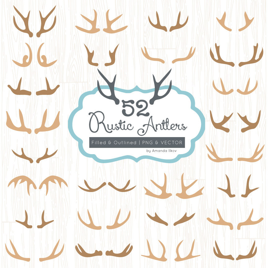 Antlers clipart #16